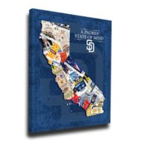 MLB San Diego Padres California State of Mind Canvas Print Wall Art