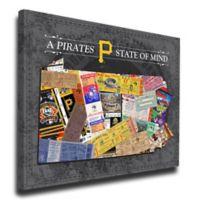 MLB Pittsburgh Pirates Pennsylvania State of Mind Canvas Print Wall Art