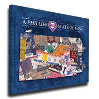 MLB Philadelphia Phillies Pennsylvania State of Mind Canvas Print Wall Art