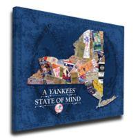 MLB New York Yankees New York State of Mind Canvas Print Wall Art