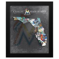 MLB Miami Marlins Florida State of Mind Canvas Framed Print Wall Art