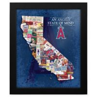 MLB Los Angeles Angels California State of Mind Canvas Framed Print Wall Art