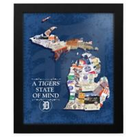 MLB Detroit Tigers Michigan State of Mind Canvas Framed Print Wall Art
