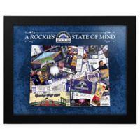 MLB Colorado Rockies Colorado State of Mind Canvas Framed Print Wall Art