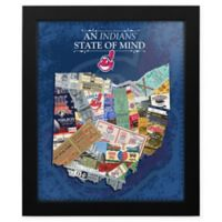MLB Cleveland Indians Ohio State of Mind Canvas Framed Print Wall Art