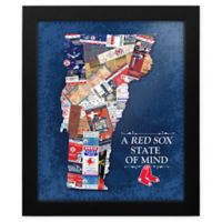 MLB Boston Red Sox Vermont State of Mind Canvas Framed Print Wall Art