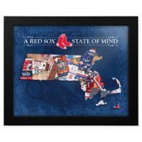MLB Boston Red Sox Massachusetts State of Mind Canvas Framed Print Wall Art