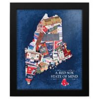 MLB Boston Red Sox Maine State of Mind Canvas Framed Print Wall Art