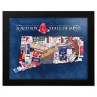 MLB Boston Red Sox Connecticut State of Mind Canvas Framed Print Wall Art