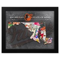 MLB Baltimore Orioles Maryland State of Mind Canvas Framed Print Wall Art