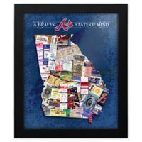 MLB Atlanta Braves Georgia State of Mind Canvas Framed Print Wall Art