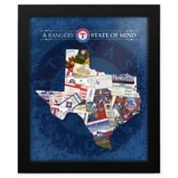 MLB Texas Rangers Texas State of Mind Canvas Framed Print Wall Art
