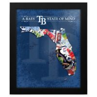 MLB Tampa Bay Rays Florida State of Mind Canvas Framed Print Wall Art