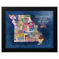 MLB St. Louis Cardinals Missouri State of Mind Canvas Framed Print Wall Art