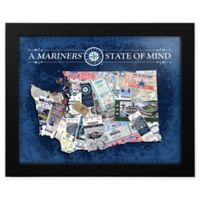 MLB Seattle Mariners Washington State of Mind Canvas Framed Print Wall Art