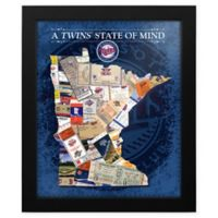 MLB Minnesota Twins Minnesota State of Mind Canvas Framed Print Wall Art