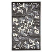 Nourison Scrolling Leaves 2-Foot 3-Inch x 3-Foot 9-Inch Multicolor Accent Rug