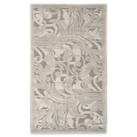 Nourison Scrolling Leaves 2-Foot 3-Inch x 3-Foot 9-Inch Accent Rug in Grey/Camel