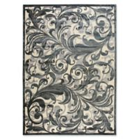 Nourison Scrolling Leaves 7-Foot 9-Inch x 10-Foot 10-Inch Multicolor Area Rug