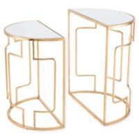 Zuo® Roma End Tables in Gold (Set of 2)