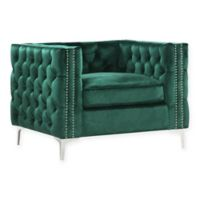 Chic Home Picasso Velvet Club Chair in Green