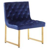 Chic Home Katya Velvet Accent Chair in Navy