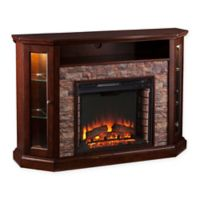 Southern Enterprises Redden Corner Convertible Electric Media Fireplace in Espresso