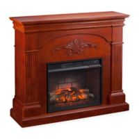 Southern Enterprises Sicilian Harvest Infrared Electric Fireplace in Mahogany