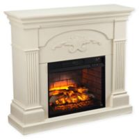 Southern Enterprises Sicilian Harvest Infrared Electric Fireplace in Ivory