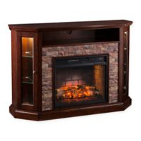 Southern Enterprises Redden Corner Convertible Infrared Electric Media Fireplace in Espresso