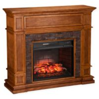 Southern Enterprises Belleview Stone Infrared Electric Media Fireplace in Sienna