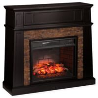 Southern Enterprises Crestwick Stone Infrared Electric Media Fireplace in Black