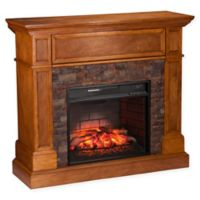 Southern Enterprises Rosedale Corner Infrared Electric Media Fireplace in Sienna