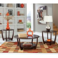 Standard Furniture Mfg. Seattle II 3-Piece Occasional Table Set in Dark Cherry