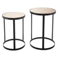 Zuo® Antique Mirror-Top Round End Tables (Set of 2)