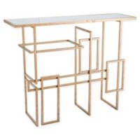 Zuo® Multiples Metal Mirror Top Console Table in Gold