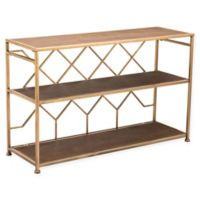 Zuo® Equis Metal Console Table in Brown