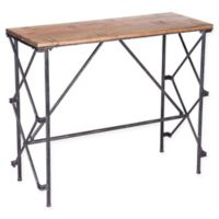 Zuo® Esquil Metal and Wood Console Table in Brown