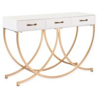 Zuo® Infinity Metal and Wood Console Table in White