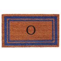 "Home & More Border Monogram Letter ""O"" 24-Inch x 36-Inch Door Mat in Blue"