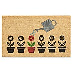 Nourison Blossoming Flower Pot 18-Inch x 30-Inch Coir Door Mat