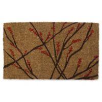Entryways Winter Berries 18-Inch x 30-Inch Coconut Fiber Multicolor Door Mat