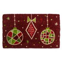 Entryways Geo Ornaments 18-Inch x 30-Inch Coconut Fiber Multicolor Door Mat