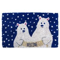 Entryways Polar Bears 18-Inch x 30-Inch Coconut Fiber Multicolor Door Mat