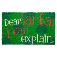 entryways dear santa17 inch x 28 inch multicolor door mat