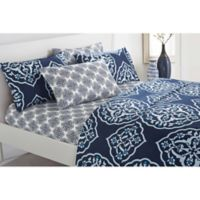 Chic Home Jude King Sheet Set in Navy