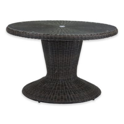 ZuoR Noe Outdoor Pedestal Dining Table In Brown