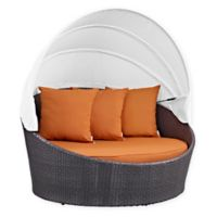 Modway Convene Outdoor Canopy Daybed in Orange