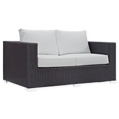 Modway Convene Outdoor Patio Loveseat In White