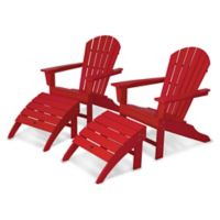 POLYWOOD® South Beach Adirondack 4-Piece Set in Sunset Red